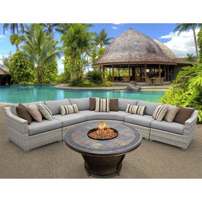 Fairmont 6 Piece Fire Pit Seating Group with Cushion Fabric: Gray