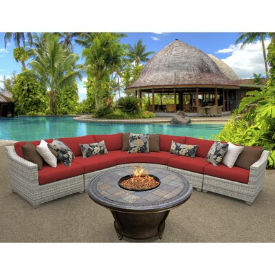 Fairmont 6 Piece Fire Pit Seating Group with Cushion Fabric: Terracotta