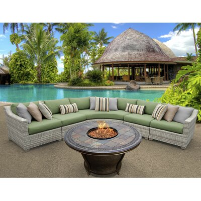 Fairmont 6 Piece Fire Pit Seating Group with Cushion Fabric: Cilantro