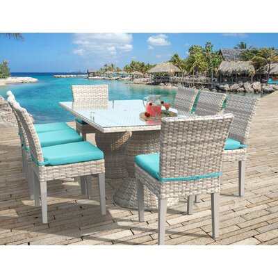 Fairmont 9 Piece Dining Set Cushion Color: Aruba