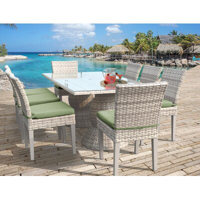 Fairmont 9 Piece Dining Set Cushion Color: Cilantro
