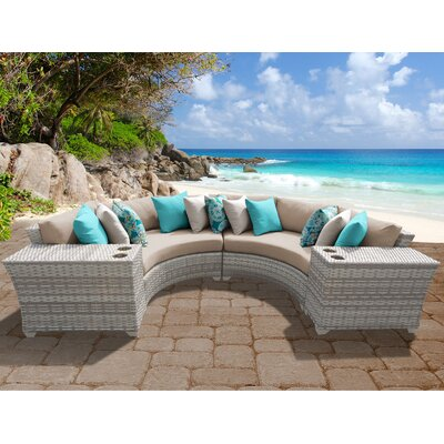 Fairmont 4 Piece Deep Seating Group with Cushion Fabric: Wheat