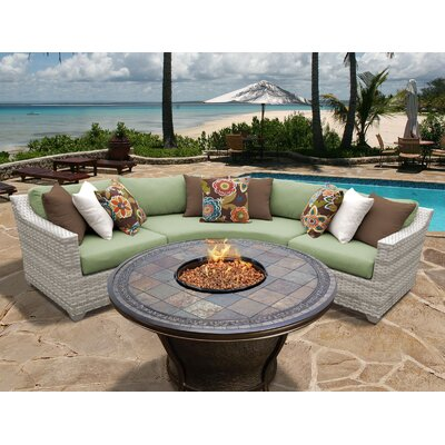 Fairmont 4 Piece Fire Pit Seating Group with Cushion Fabric: Cilantro