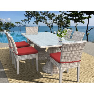 Ansonia Wicker Outdoor Dining Set Cushion 6663 Product Pic
