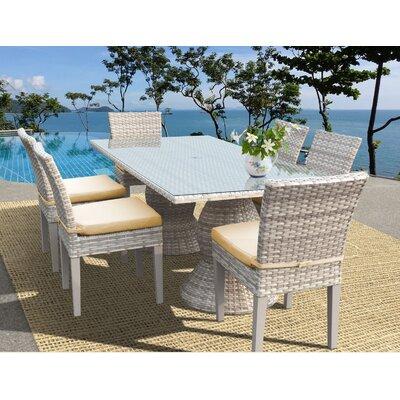 Fairmont 7 Piece Dining Set Cushion Color: Sesame