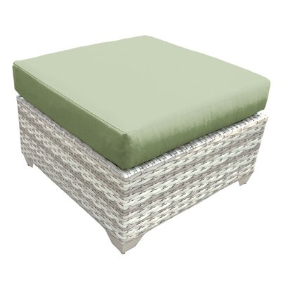 Fairmont Ottoman with Cushion Fabric: Cilantro