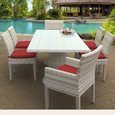 Fairmont 7 Piece Dining Set Cushion Color: Terracotta