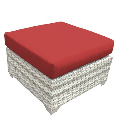 Fairmont Ottoman with Cushion Fabric: Terracotta