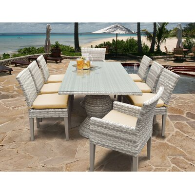 Fairmont 9 Piece Dining Set Cushion Color: Sesame