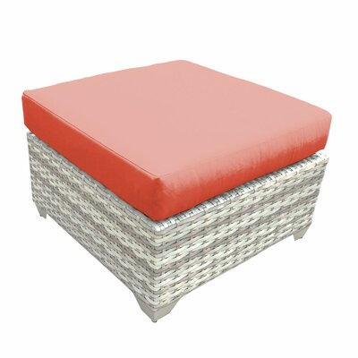 Fairmont Ottoman with Cushion Fabric: Tangerine