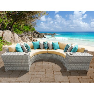 Fairmont 4 Piece Deep Seating Group with Cushion Fabric: Sesame