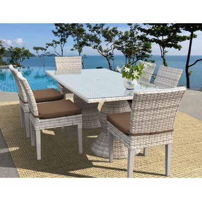 Fairmont 7 Piece Dining Set Cushion Color: Cocoa