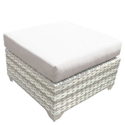 Fairmont Ottoman with Cushion Fabric: Beige