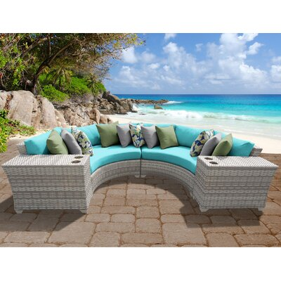 Fairmont 4 Piece Deep Seating Group with Cushion Fabric: Aruba