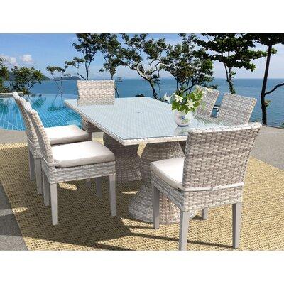 Fairmont 7 Piece Dining Set Cushion Color: Beige