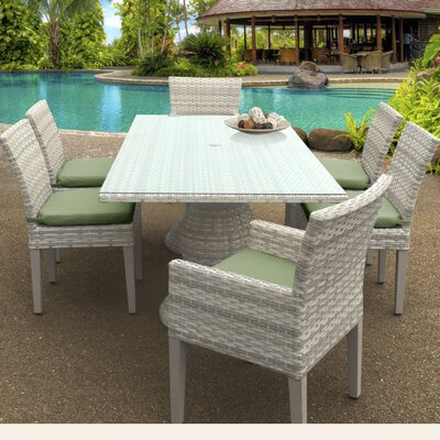 Fairmont 7 Piece Dining Set Cushion Color: Cilantro