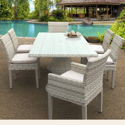 Fairmont 7 Piece Dining Set Cushion Color: Beige