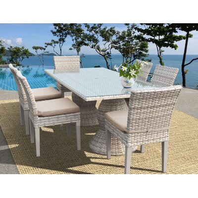 Fairmont 7 Piece Dining Set Cushion Color: Wheat