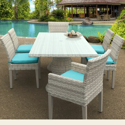 Fairmont 7 Piece Dining Set Cushion Color: Aruba