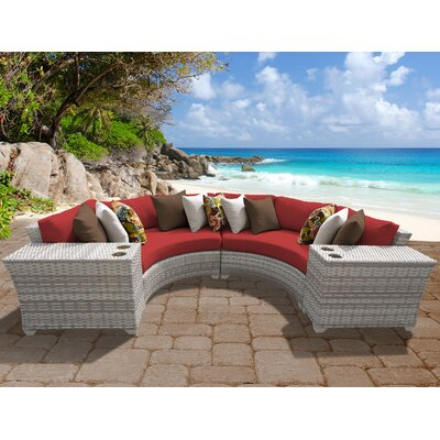 Fairmont 4 Piece Deep Seating Group with Cushion Fabric: Terracotta