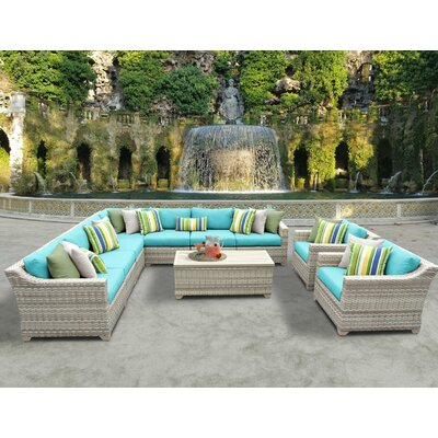 Fairmont 10 Piece Sectional Seating Group with Cushion Fabric: Aruba