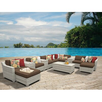 Fairmont 14 Piece Sectional Seating Group with Cushion Fabric: Cocoa
