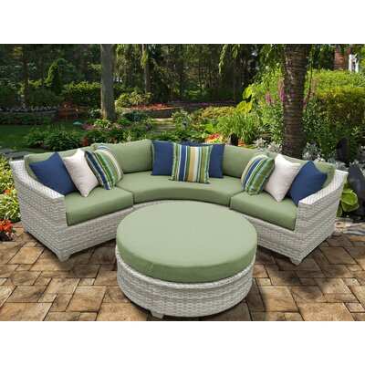 Fairmont 4 Piece Deep Seating Group with Cushion Fabric: Cilantro