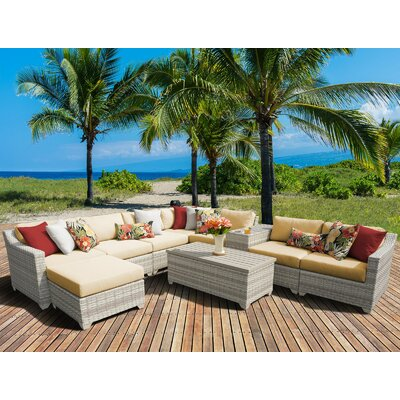 Fairmont 10 Piece Sectional Seating Group with Cushion Fabric: Sesame