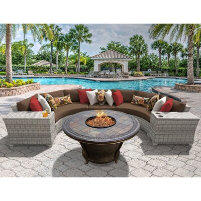 Fairmont 6 Piece Fire Pit Seating Group with Cushion Fabric: Cocoa
