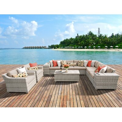 Fairmont 11 Piece Deep Seating Group with Cushion Fabric: Wheat