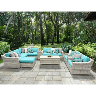 Fairmont 12 Piece Sectional Seating Group with Cushion Fabric: Aruba