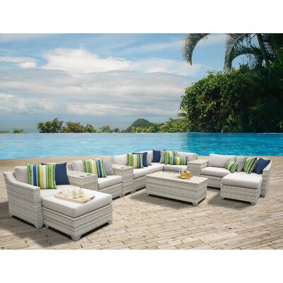 Fairmont 14 Piece Sectional Seating Group with Cushion Fabric: Beige