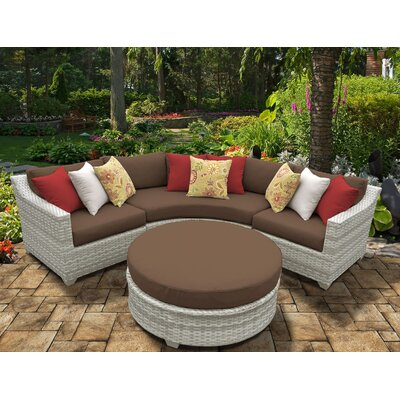 Fairmont 4 Piece Deep Seating Group with Cushion Fabric: Cocoa