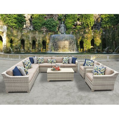 Fairmont 10 Piece Sectional Seating Group with Cushion Fabric: Wheat