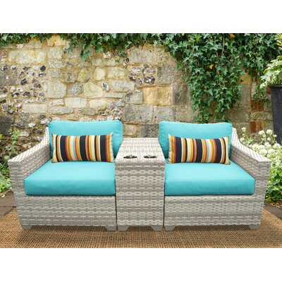 Fairmont 3 Piece Deep Seating Group with Cushion Fabric: Aruba