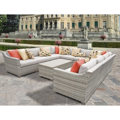 Fairmont 11 Piece Sectional Seating Group with Cushion Fabric: Beige