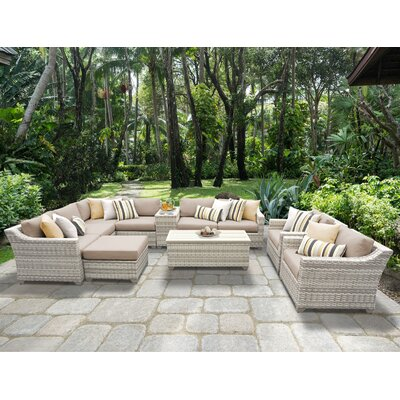 Fairmont 12 Piece Sectional Seating Group with Cushion Fabric: Wheat