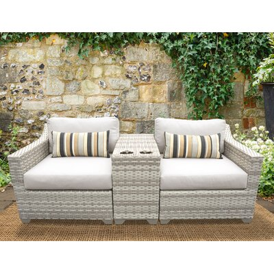 Fairmont 3 Piece Deep Seating Group with Cushion Fabric: Beige