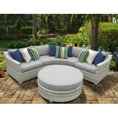 Fairmont 4 Piece Deep Seating Group with Cushion Fabric: Gray