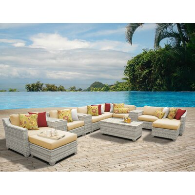 Fairmont 14 Piece Sectional Seating Group with Cushion Fabric: Sesame