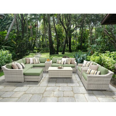 Fairmont 12 Piece Sectional Seating Group with Cushion Fabric: Cilantro