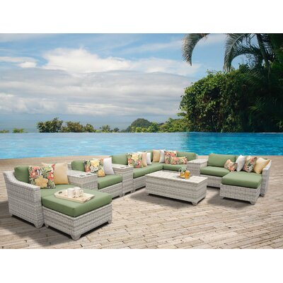 Fairmont 14 Piece Sectional Seating Group with Cushion Fabric: Cilantro