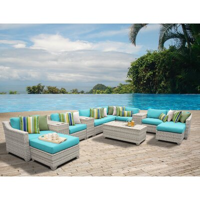 Fairmont 14 Piece Sectional Seating Group with Cushion Fabric: Aruba