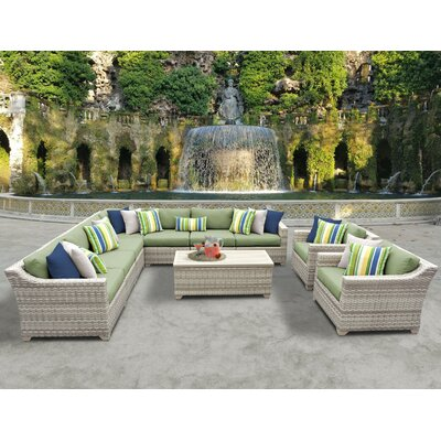 Fairmont 10 Piece Sectional Seating Group with Cushion Fabric: Cilantro