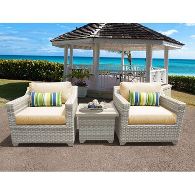 Fairmont 3 Piece Deep Seating Group with Cushion Fabric: Sesame