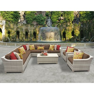 Fairmont 10 Piece Sectional Seating Group with Cushion Fabric: Cocoa