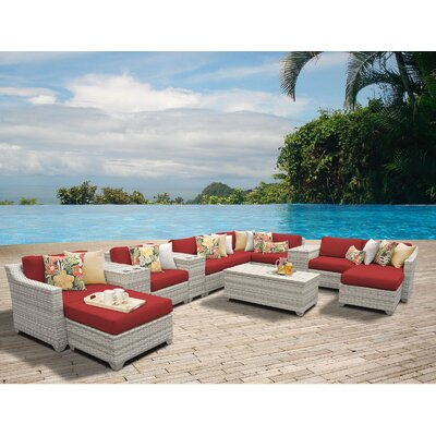 Fairmont 14 Piece Sectional Seating Group with Cushion Fabric: Terracotta