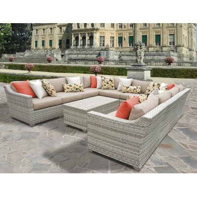 Fairmont 11 Piece Sectional Seating Group with Cushion Fabric: Wheat