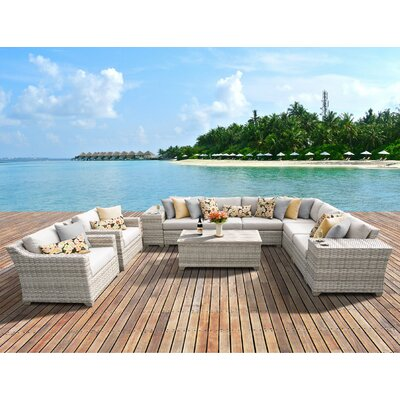 Fairmont 11 Piece Deep Seating Group with Cushion Fabric: Beige
