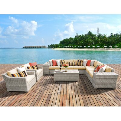 Fairmont 11 Piece Deep Seating Group with Cushion Fabric: Sesame